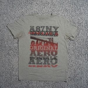 Aeropostale A87NY New York Gray Tee Shirt